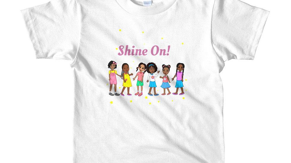 """Shine On!"" Girls short sleeve kids t-shirt"