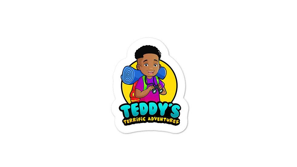 Teddy's Terrific Adventures Bubble-free stickers