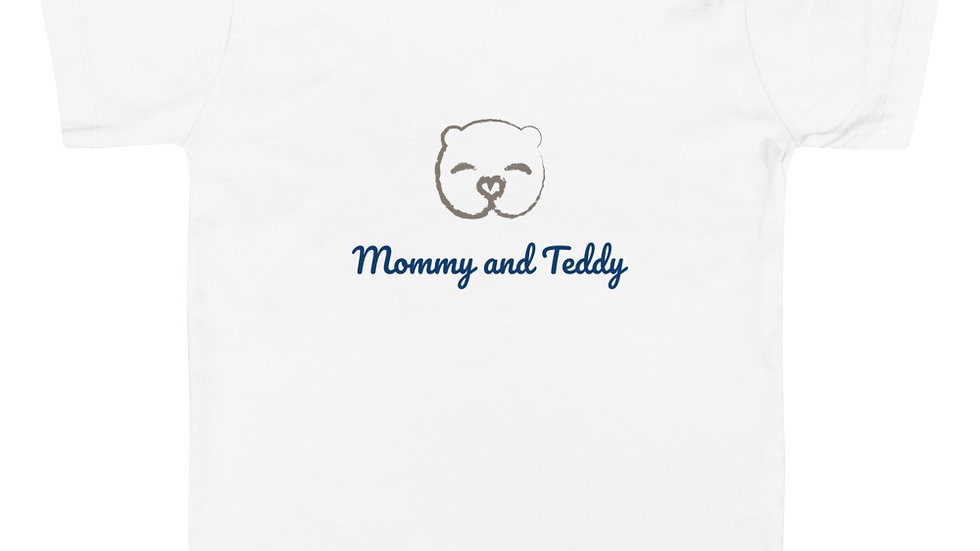 """""""Mommy and Teddy"""" Toddler Short Sleeve Tee"""