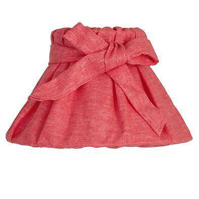 Абажур розовый с бантом в стиле прованс хлопок