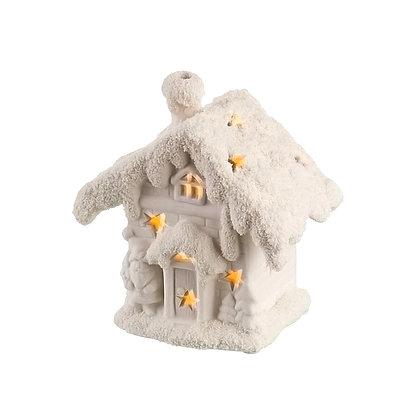 Подсвечник с подсветкой Зимний домик