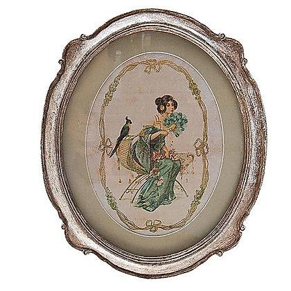 Картина Дама с попугаем