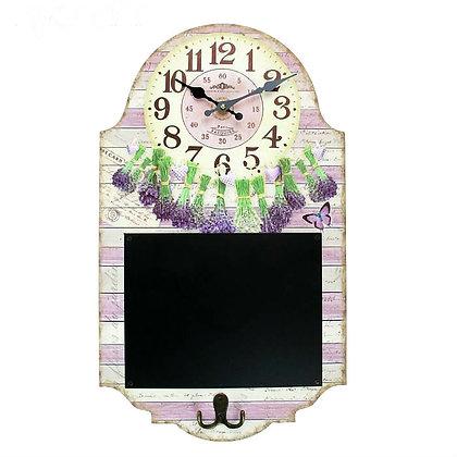 Часы с доской для записей Лаванда