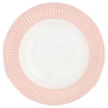 Тарелка Элис бледно-розовая