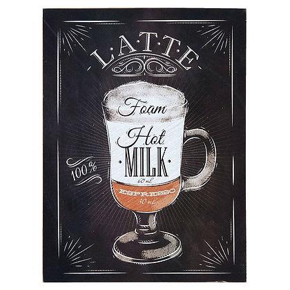 Табличка Кофе латте