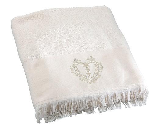 Полотенце банное «Жустина» (слоновая кость,100х150 см)