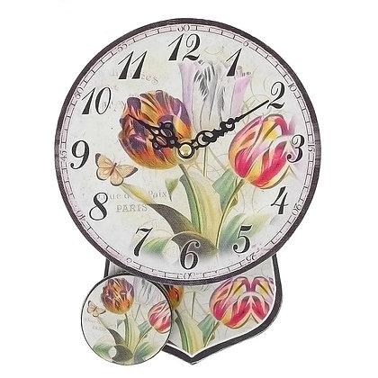Часы с маятником Тюльпаны