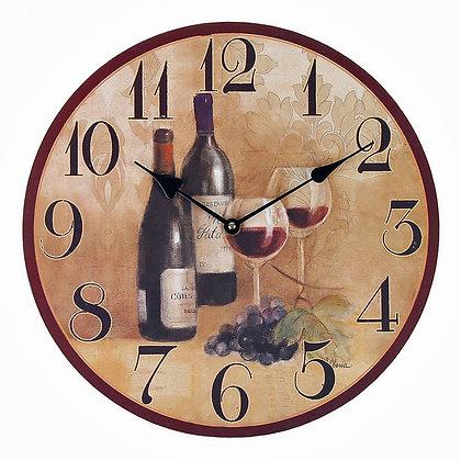 """Часы настенные """"Вино в бокале"""""""