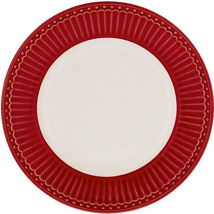 Тарелка Элис десертная красная