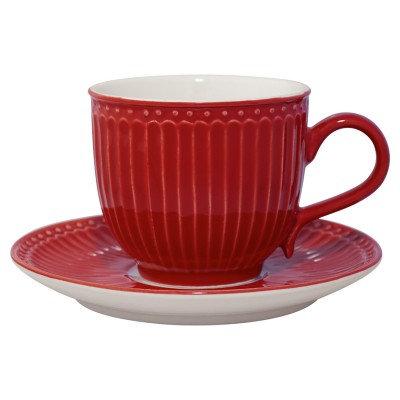 Чайная пара Элис красная