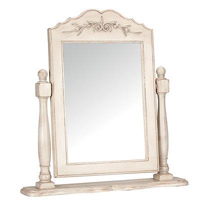 Белое настольное зеркало в стиле прованс