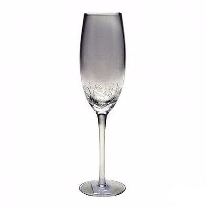 Бокал для шампанского с кракелюрным дном