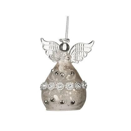 Подвеска Ангел серебро антик