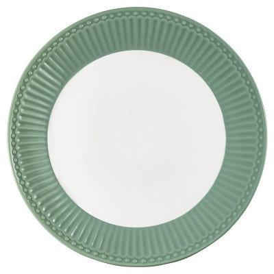 Тарелка Элис столовая пыльно-зеленая