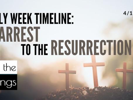 Holy Week Timeline: Arrest to the Resurrection