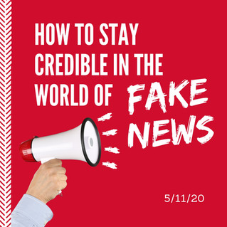Keeping Credibility in the Age of Fake News