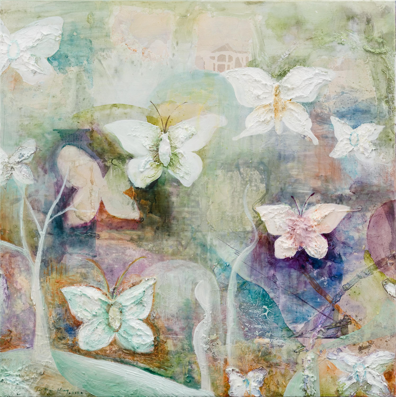 蝴蝶的時間 The butterfly's time 70x70cm oil o