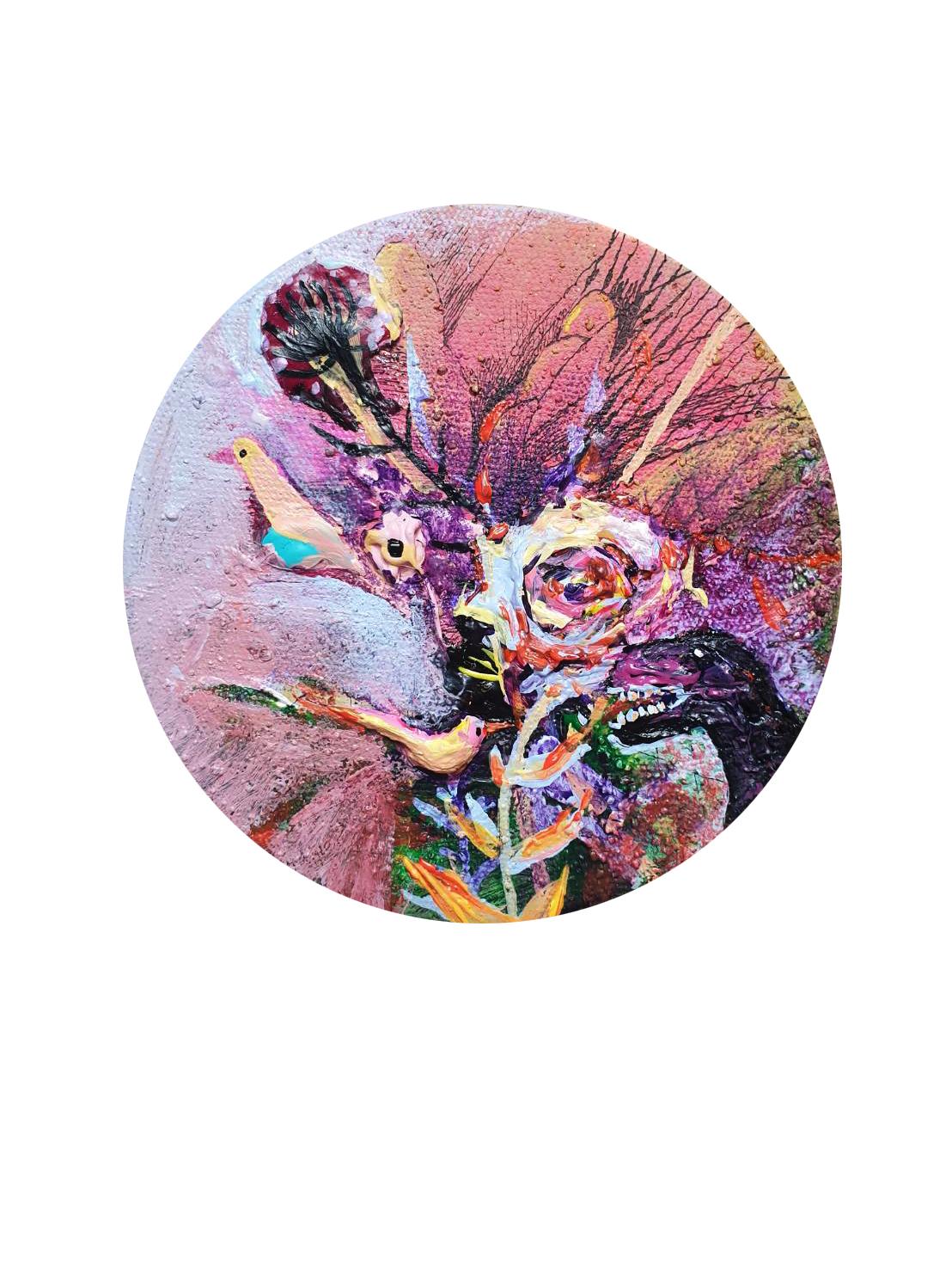 38.本質 Acrylic on canvas 15x15cm 2020