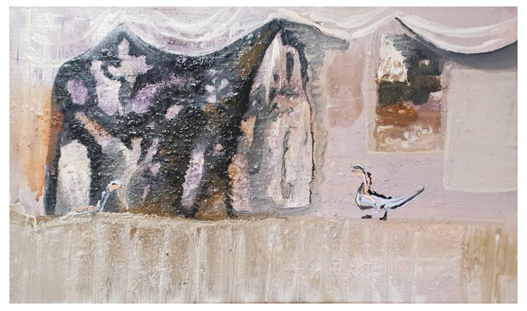12.雅室 41x24cm 2016 oil on canvas