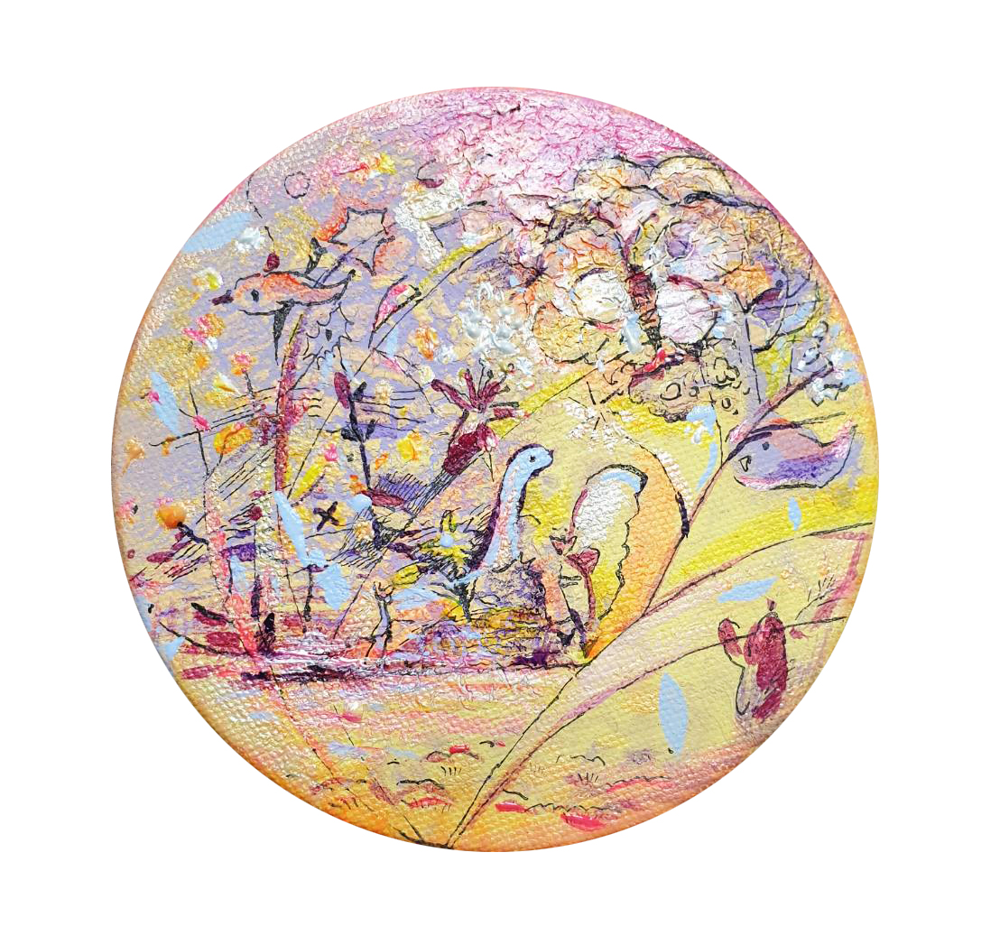 35.成為渺小 Acrylic on canvas 15x15cm 2020