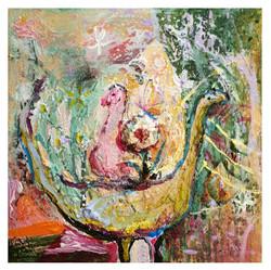 19..共同的守護 25x25cm. 2020 oil on canvas