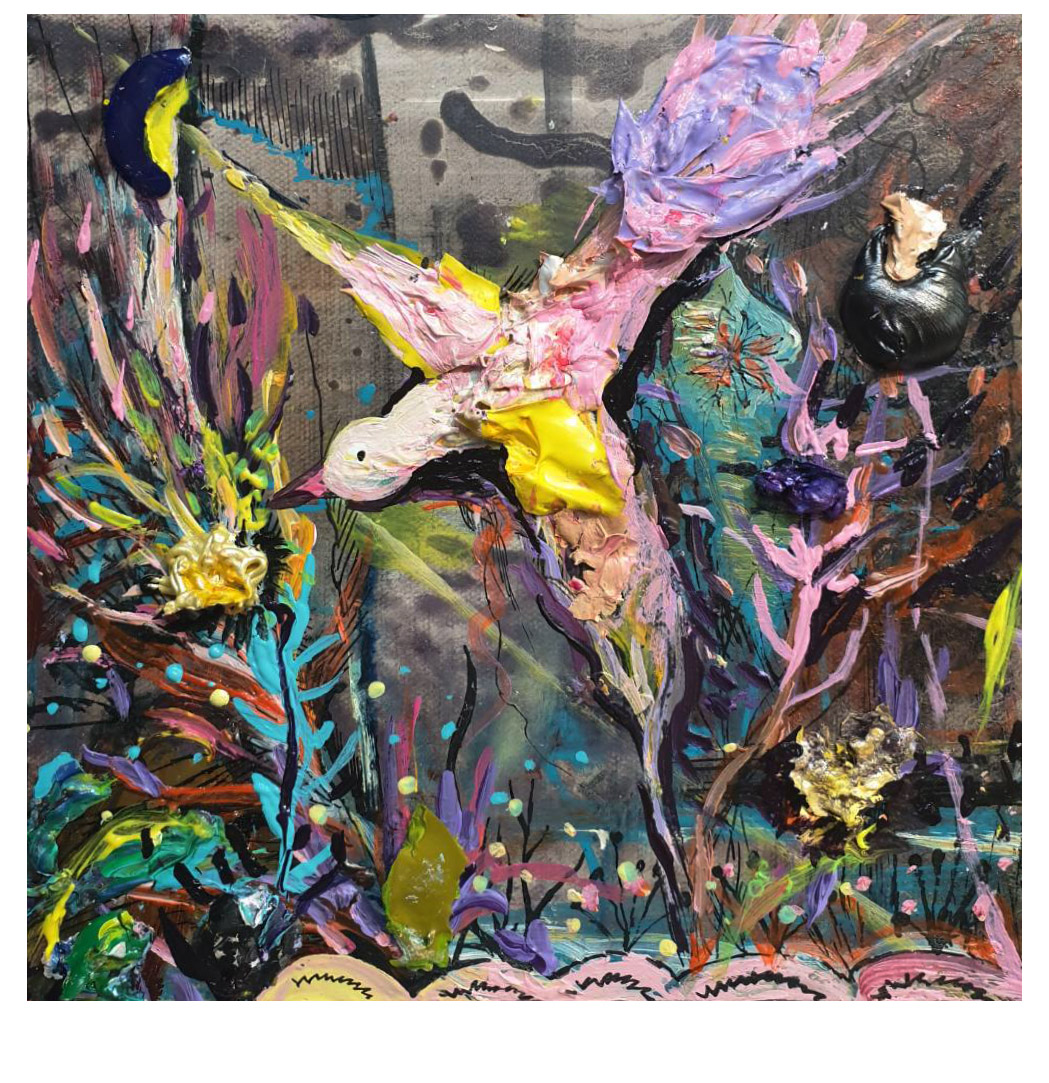 48.夜晚的幽光 19x19cm oil on canvas 2020