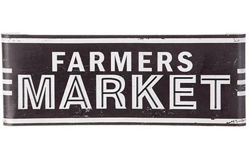 Farmer's Market Metal Sign