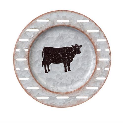 Cow Plate, Metal