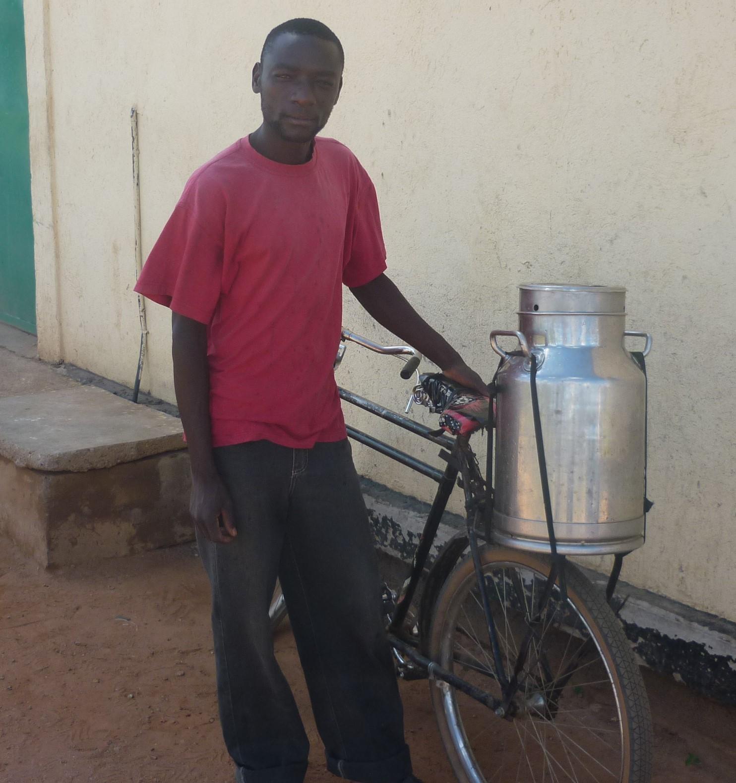 Milk on bike - Africa