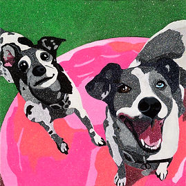 Click here for more info on the Custom Pet Portrait Art Process