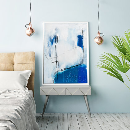 Blue Bird on a Wire, Print
