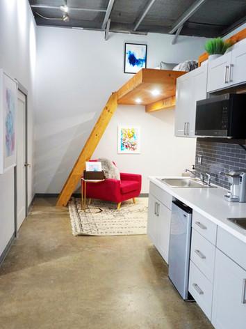 Kitchenette + Loft Area