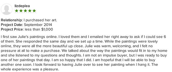 Julie Ahmad Artist Review Houzz