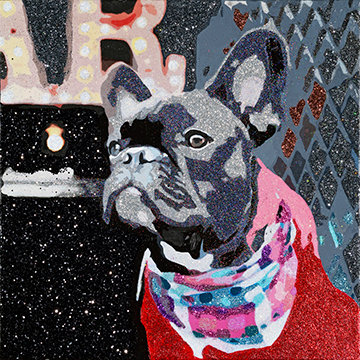 Biggie the Frenchie, Giclee Print