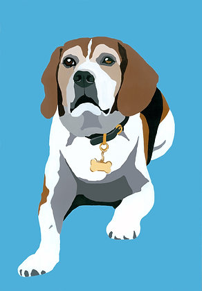 Seamus the Beagle, Giclee Print