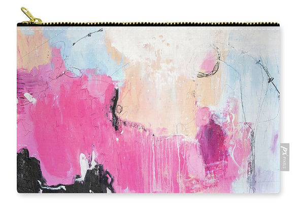 printed product, abstract art, cosmetic bag, abstract cosmetic bag, contemporary art product, art print, julie ahmad art