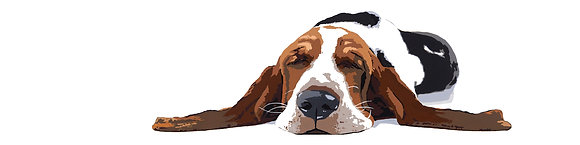 Workin' Like a Dog, Basset Hound Giclee Print