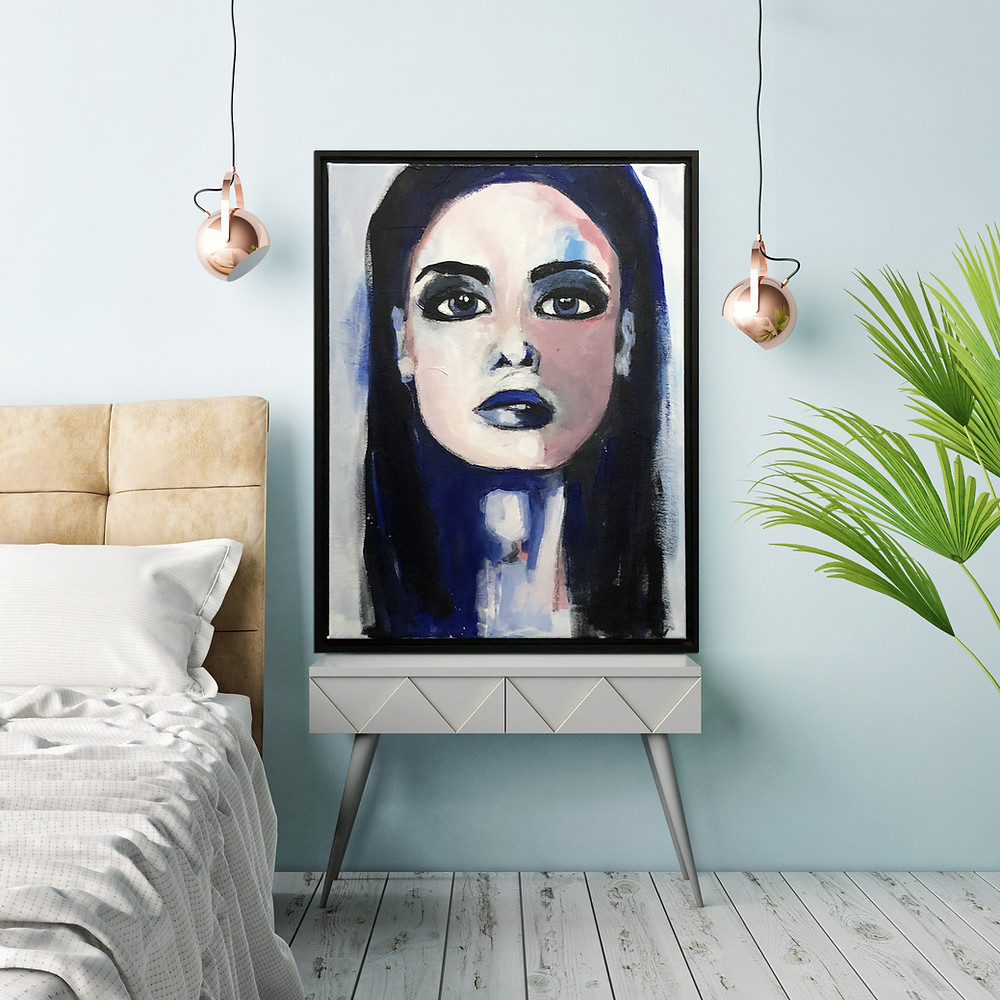portrait art, mixed media portraits, portraits, painting, art, women in art, female form, art for sale, paintings, mixed media art
