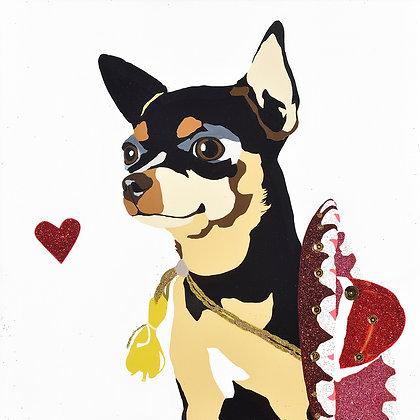 Fidget Wigglesworth the Chihuahua, Giclee Print
