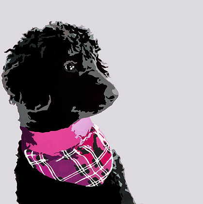 Lucy the Standard Poodle, Giclee Print