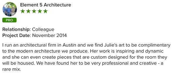 Julie Ahmad Artist Houzz Review