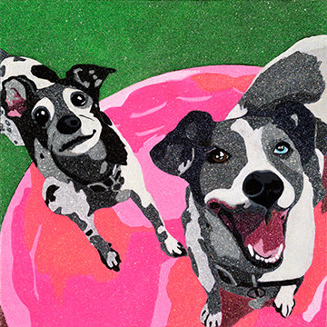 Flip n' Flop, Mixed Jack Russell Giclee Print