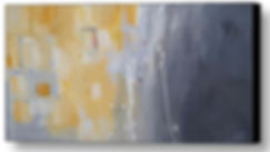 Gray & Yellow Custom Abstract Art