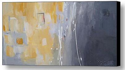Gray & Yellow Custom Abstract Art