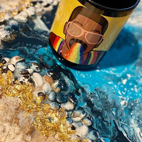 Rainbow Urkel Coffee Mug