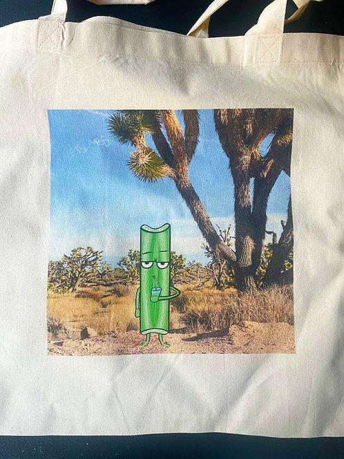 Celery in Joshua Tree Canvas Tote