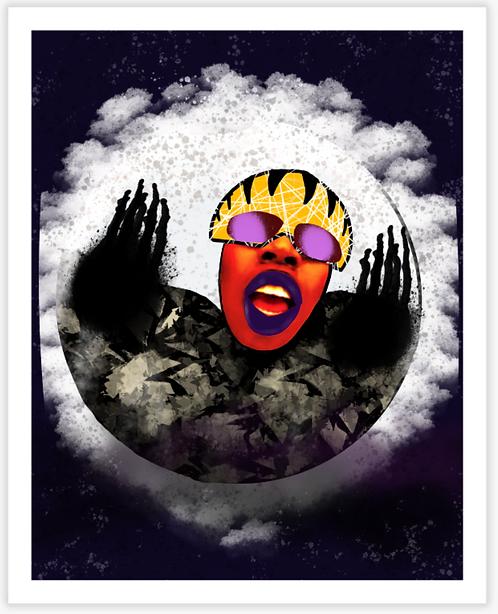 Missy Moon Board Print