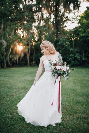 bride portrait wedding dress