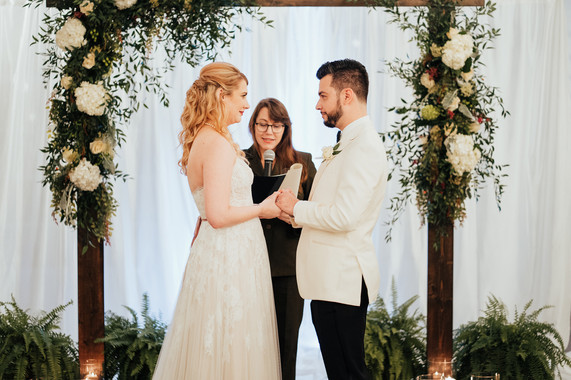 wedding ceremony bride and groom