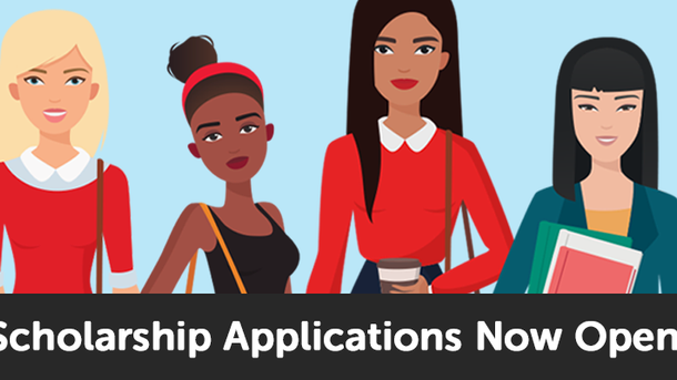 Now accepting scholarship applications! 👩🏼🎓👩🏾🎓👩🏻🎓